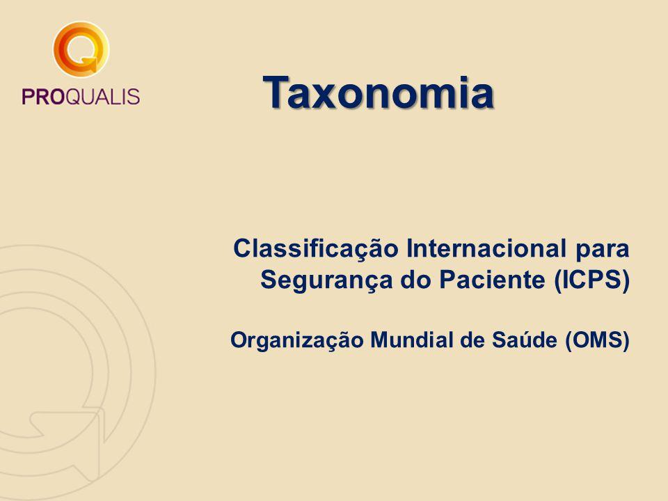 Taxonomia Classificação Internacional para Segurança do Paciente (ICPS) Organização Mundial de Saúde (OMS)