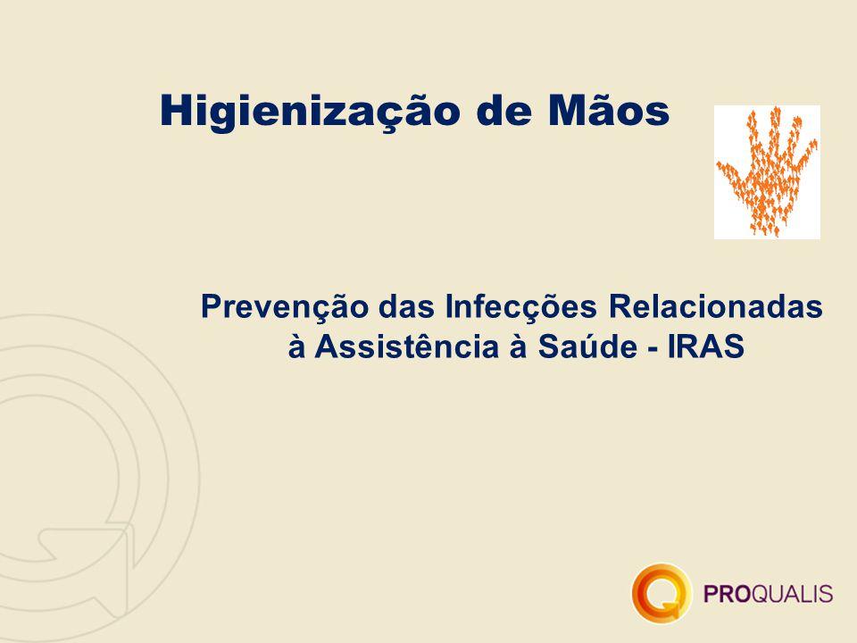 Higienização de Mãos Prevenção das Infecções Relacionadas à Assistência à Saúde - IRAS