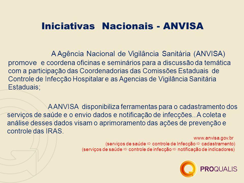 A Agência Nacional de Vigilância Sanitária (ANVISA) promove e coordena oficinas e seminários para a discussão da temática com a participação das Coord