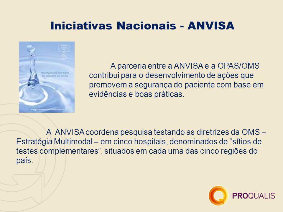 A parceria entre a ANVISA e a OPAS/OMS contribui para o desenvolvimento de ações que promovem a segurança do paciente com base em evidências e boas pr