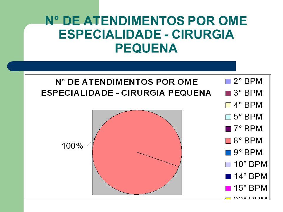 N° DE ATENDIMENTOS POR OME ESPECIALIDADE - CLÍNICA GERAL