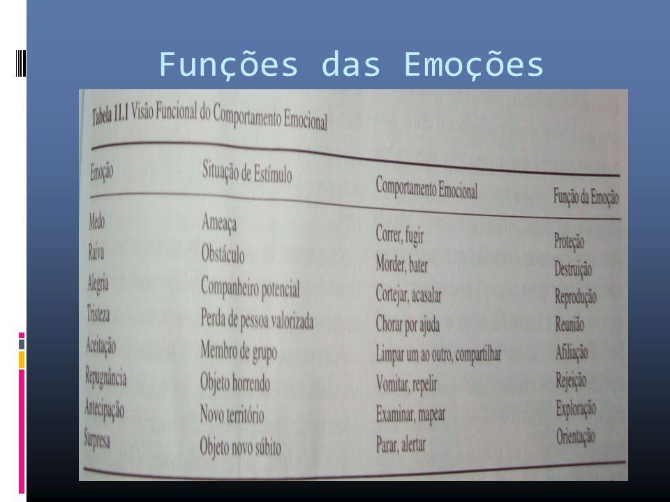 Funções das Emoções