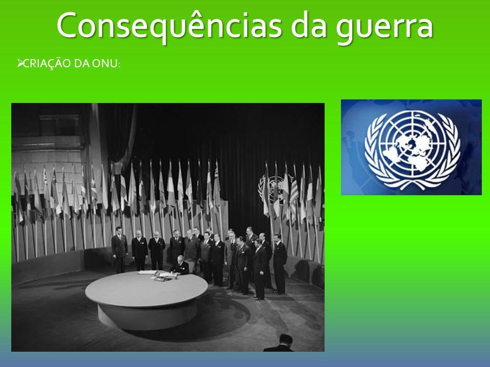  CRIAÇÃO DA ONU: