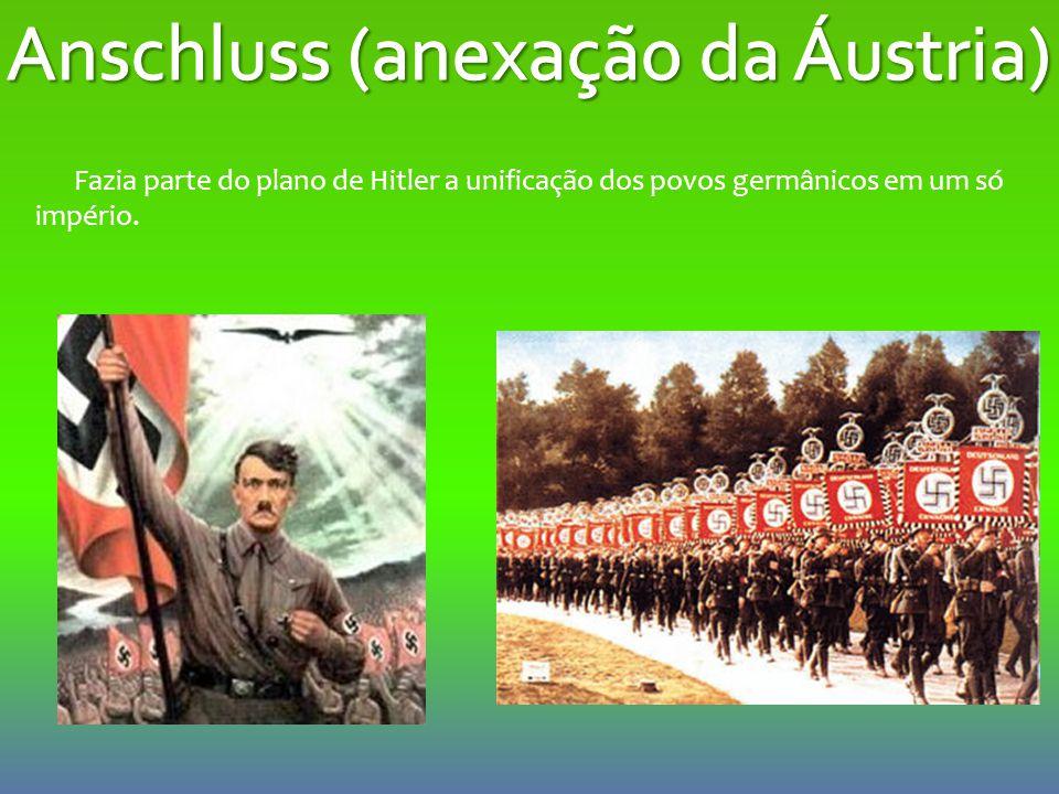 Fazia parte do plano de Hitler a unificação dos povos germânicos em um só império.