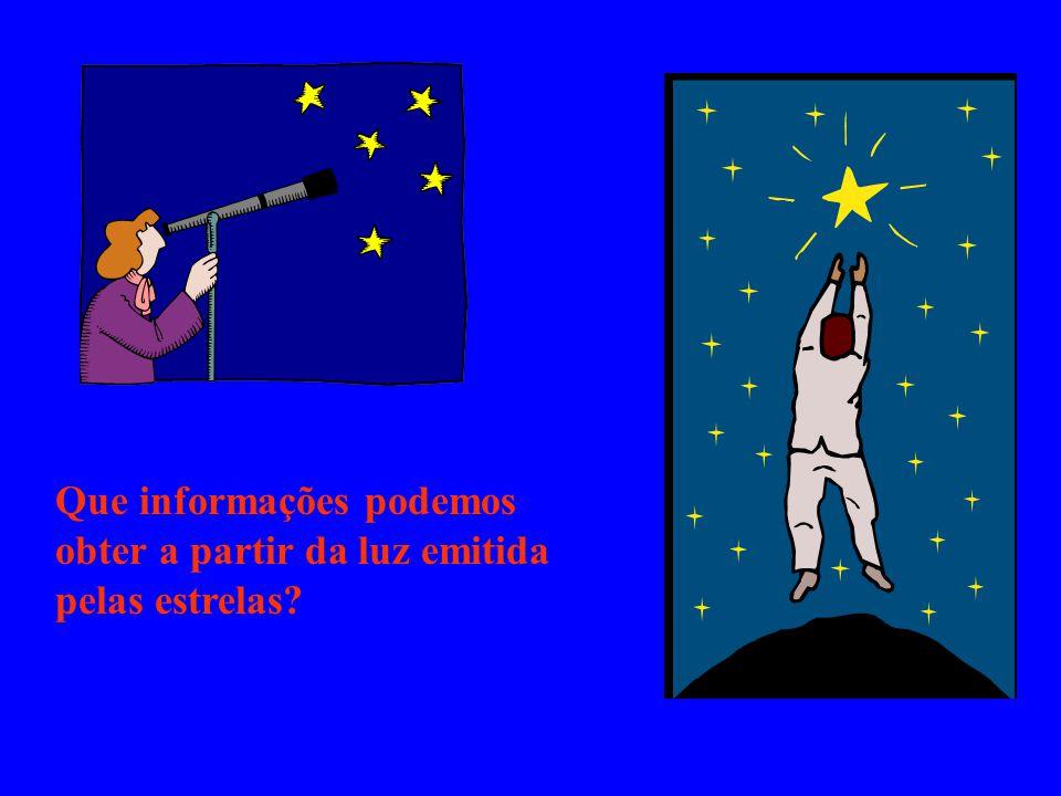 Que informações podemos obter a partir da luz emitida pelas estrelas?