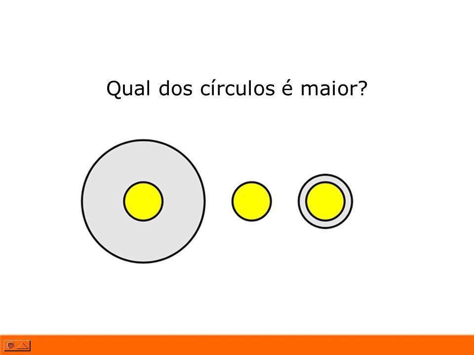 Qual dos círculos é maior?