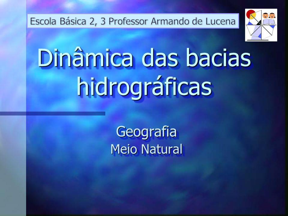 Dinâmica das bacias hidrográficas Geografia Meio Natural Geografia