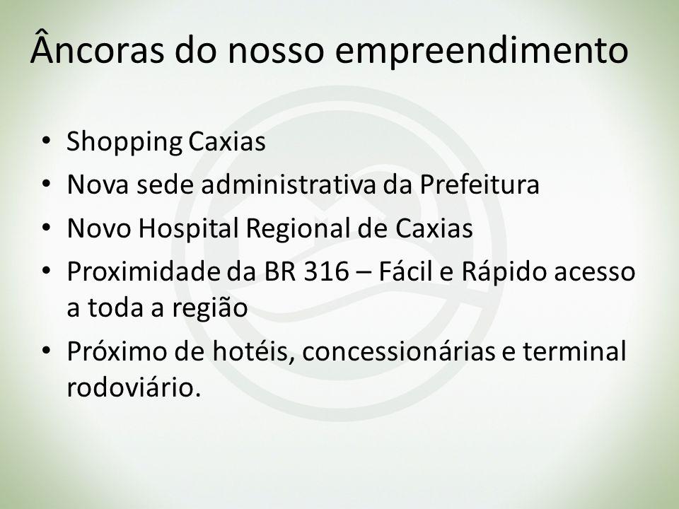 Âncoras do nosso empreendimento Shopping Caxias Nova sede administrativa da Prefeitura Novo Hospital Regional de Caxias Proximidade da BR 316 – Fácil