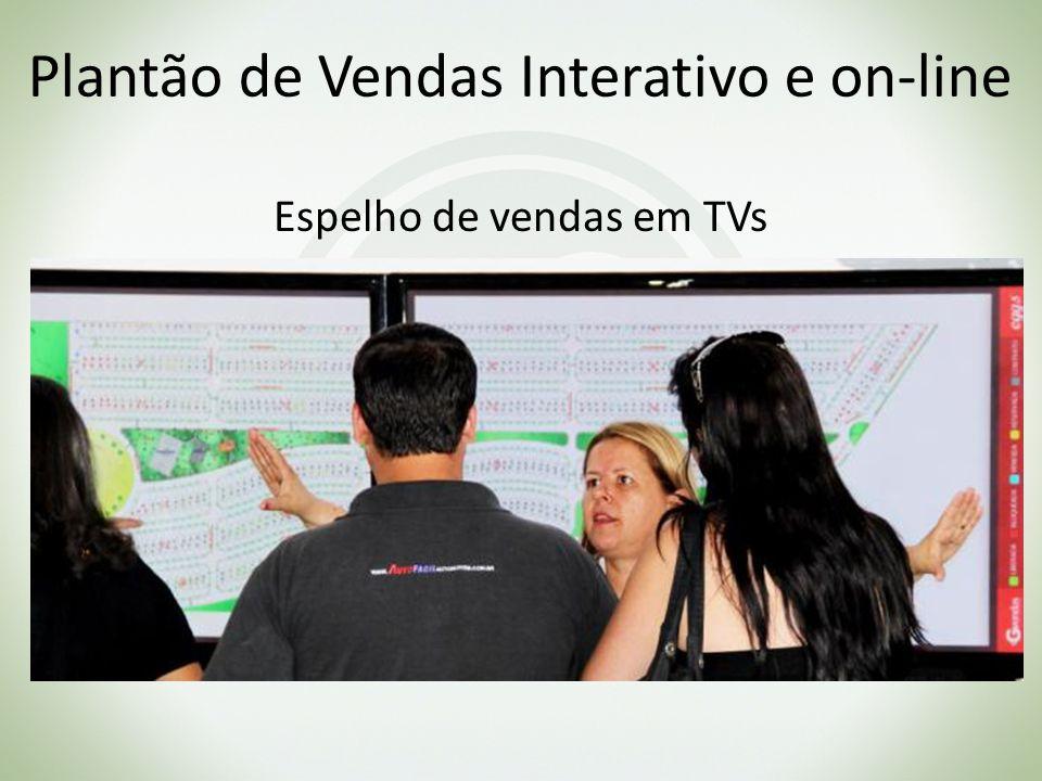 Plantão de Vendas Interativo e on-line Espelho de vendas em TVs