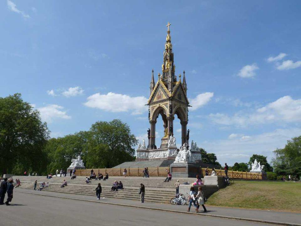 Do Hyde Park, vista do Albert Memorial.