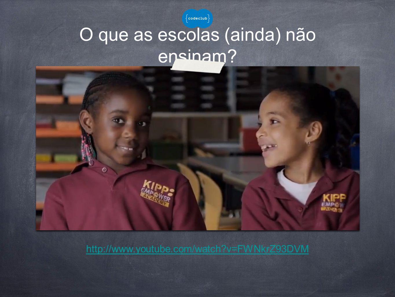 O que as escolas (ainda) não ensinam? http://www.youtube.com/watch?v=FWNkrZ93DVM