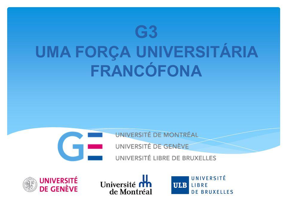 G3 UMA FORÇA UNIVERSITÁRIA FRANCÓFONA