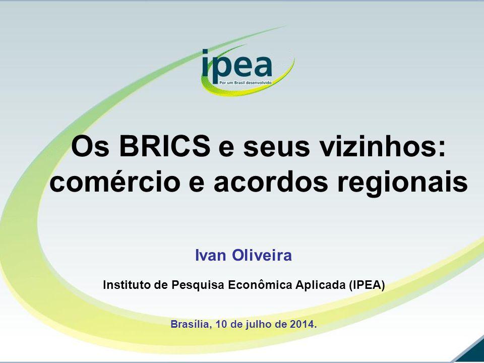 Ivan Oliveira Instituto de Pesquisa Econômica Aplicada (IPEA) Brasília, 10 de julho de 2014.