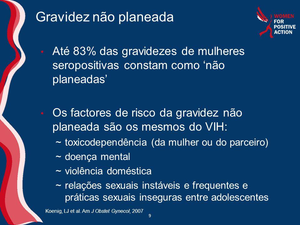 Directrizes europeias (da EACS) Igual utilização do regime de TARV em mulheres grávidas e não grávidas, exceptuando: ~Evitar EFV ~Não deverá ser iniciada terapêutica com Abacavir, nevirapina e TDF (possibilidade de continuação se iniciados antes da gravidez) ~Utilização de LPV/r ou SQV/r como PI/r preferencial ~ZDV deverá fazer parte do regime 30 Directrizes da European AIDS Clinical Society (EACS) para a Gestão Clínica e Tratamento de Adultos Infectados com VIH na Europa, 2008