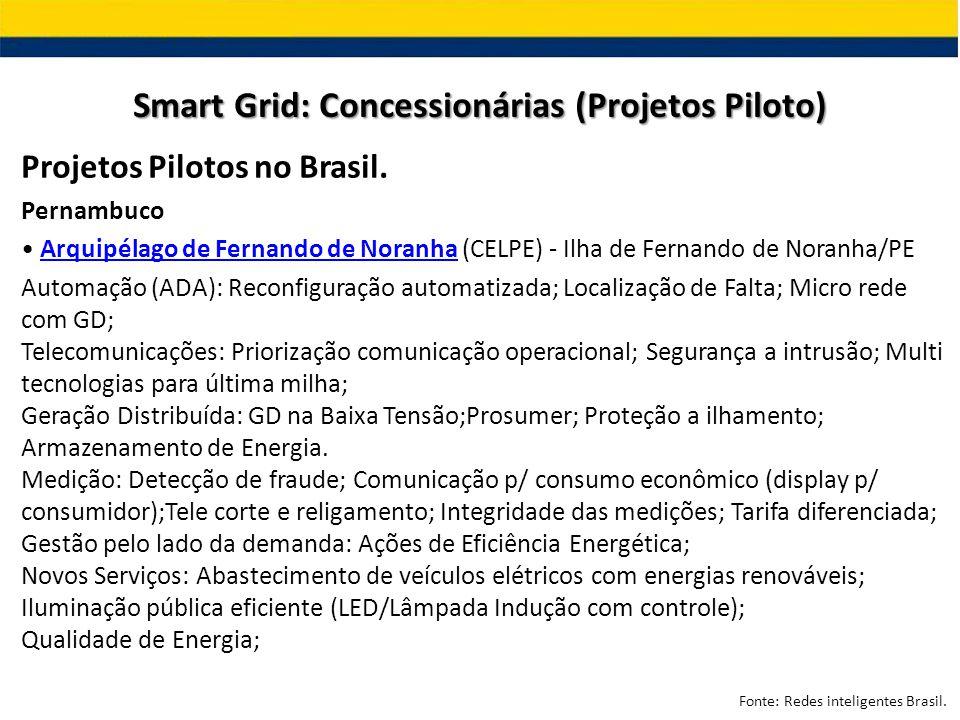 Projetos Pilotos no Brasil. Pernambuco Arquipélago de Fernando de Noranha (CELPE) - Ilha de Fernando de Noranha/PEArquipélago de Fernando de Noranha A