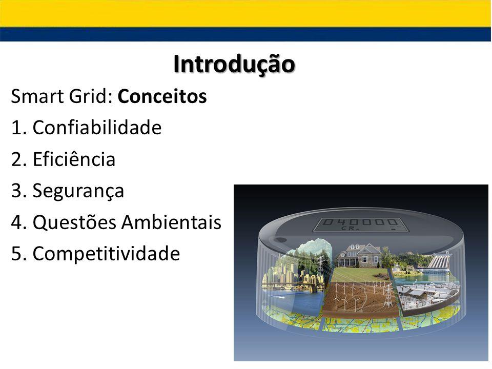Smart Grid: Conceitos 1. Confiabilidade 2. Eficiência 3. Segurança 4. Questões Ambientais 5. Competitividade Introdução