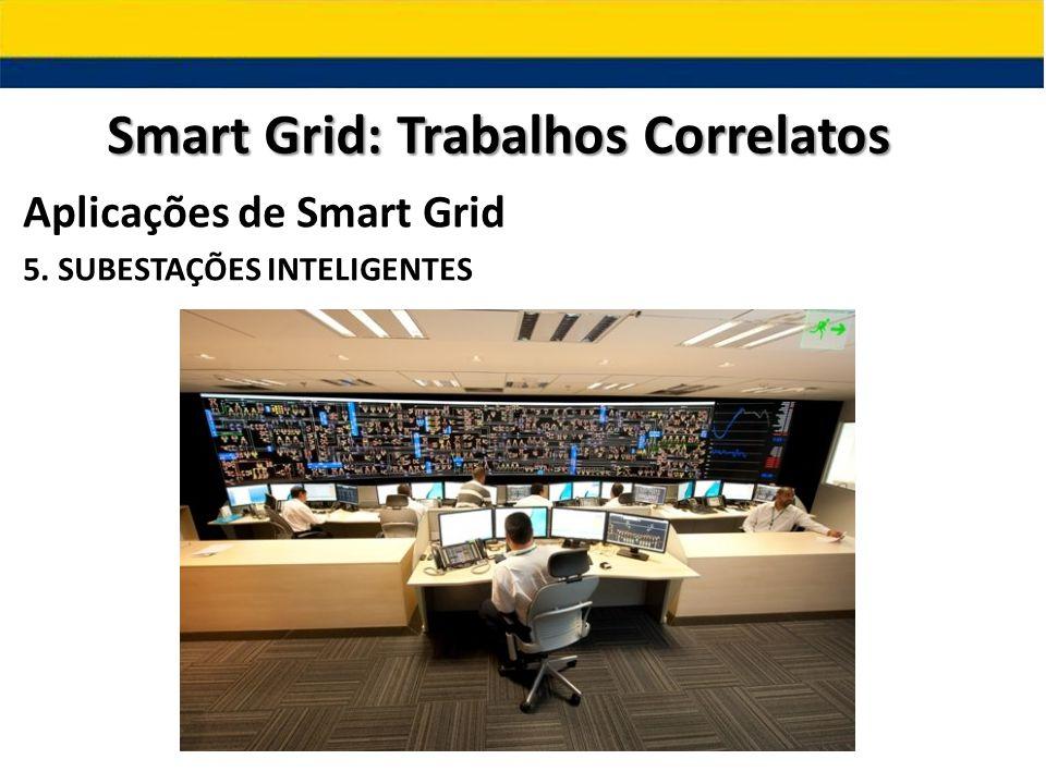 Aplicações de Smart Grid 5. SUBESTAÇÕES INTELIGENTES Smart Grid: Trabalhos Correlatos