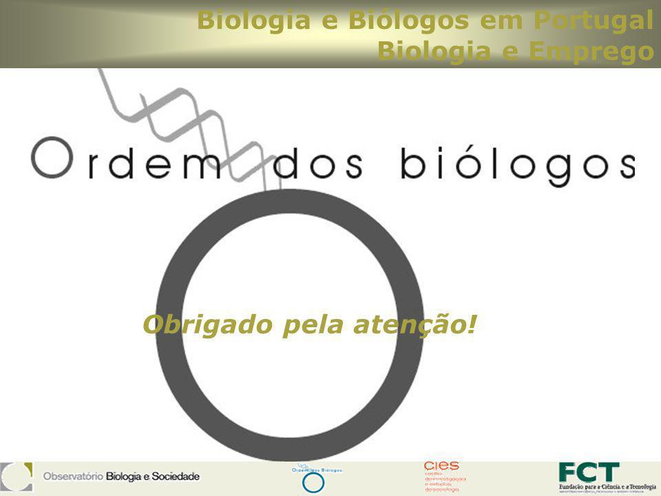 Biologia e Biólogos em Portugal Biologia e Emprego Obrigado pela atenção!