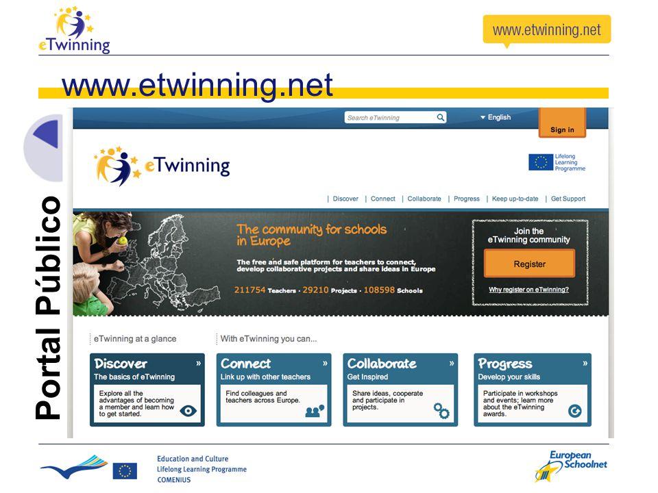 www.etwinning.net Portal Público
