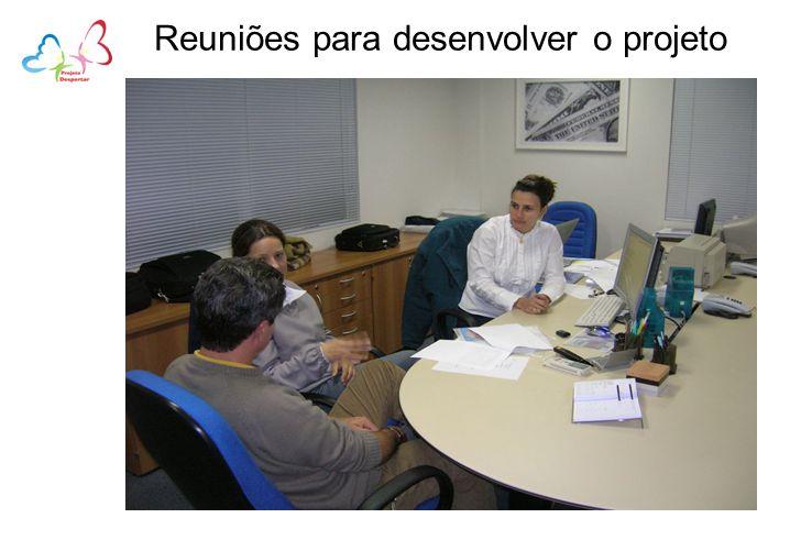 Reuniões para desenvolver o projeto