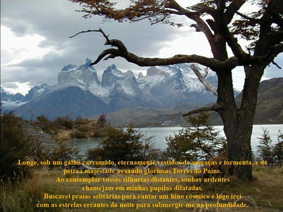 Torres do Paine, finalmente a serenidade e a calma as envolverão com um manto azul. Tereis saído da eterna noite da turbulência e tormenta estremecida