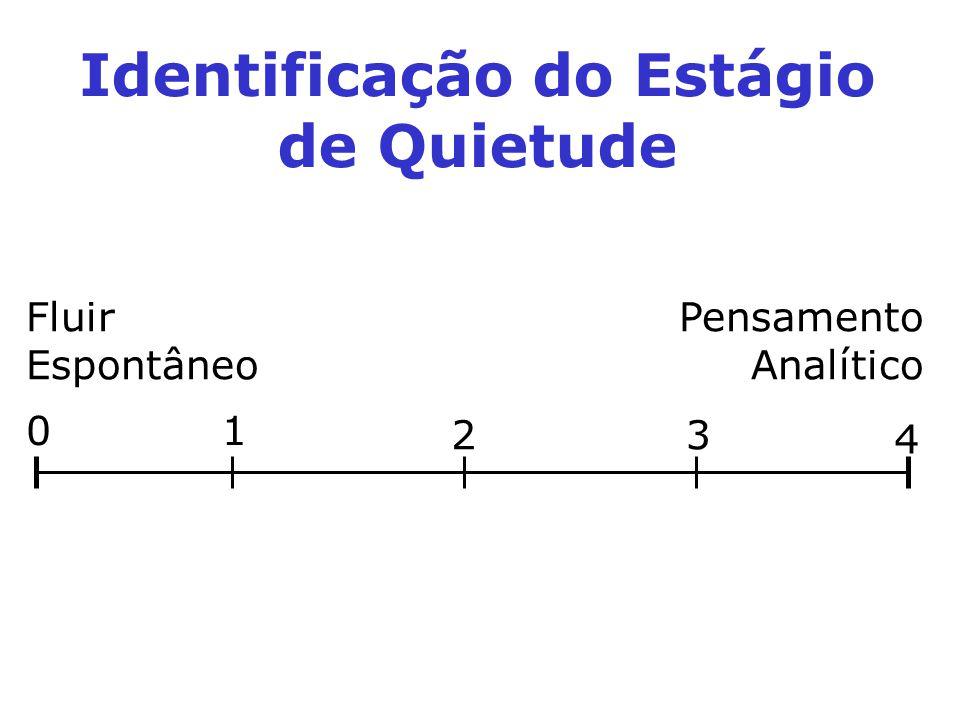 Fluir Espontâneo Pensamento Analítico 01 23 4 Identificação do Estágio de Quietude