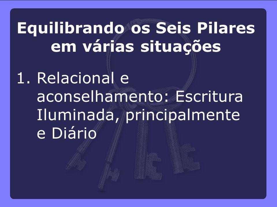 1. Relacional e aconselhamento: Escritura Iluminada, principalmente e Diário Equilibrando os Seis Pilares em várias situações