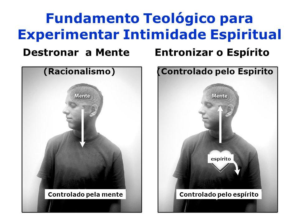 Fundamento Teológico para Experimentar Intimidade Espiritual (Racionalismo) Destronar a Mente (Controlado pelo Espirito Entronizar o Espírito Controla