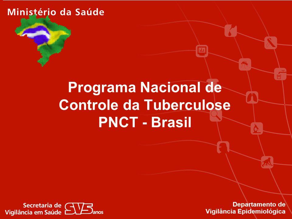 Tuberculose no Brasil 73 mil casos de TB notificados em 2008 Estimativa de 92.000 casos (OMS, 2008) Brasil: 18º país em número de casos 108º país em incidência 4,5 mil mortes por ano 4ª causa de mortes por doenças infecciosas 1ª causa de mortes dos pacientes com aids