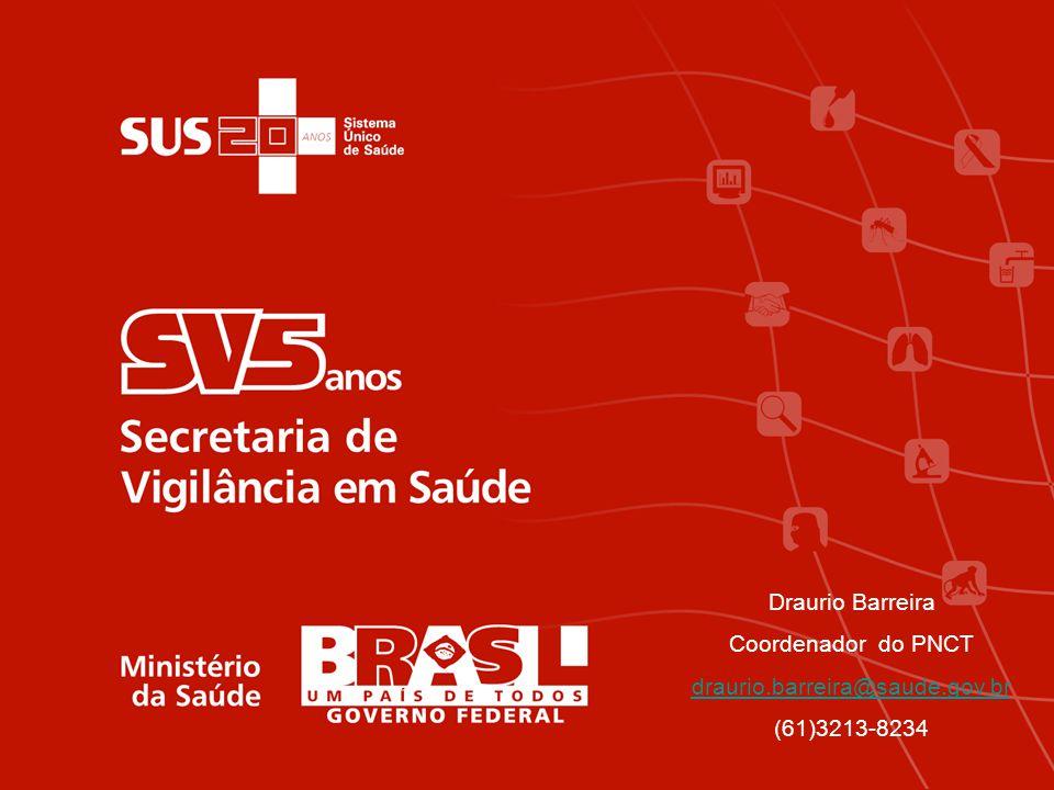 Draurio Barreira Coordenador do PNCT draurio.barreira@saude.gov.br (61)3213-8234