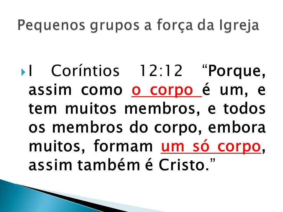 """ I Coríntios 12:12 """"Porque, assim como o corpo é um, e tem muitos membros, e todos os membros do corpo, embora muitos, formam um só corpo, assim tamb"""