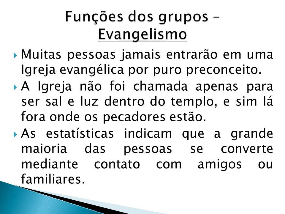  Muitas pessoas jamais entrarão em uma Igreja evangélica por puro preconceito.  A Igreja não foi chamada apenas para ser sal e luz dentro do templo,