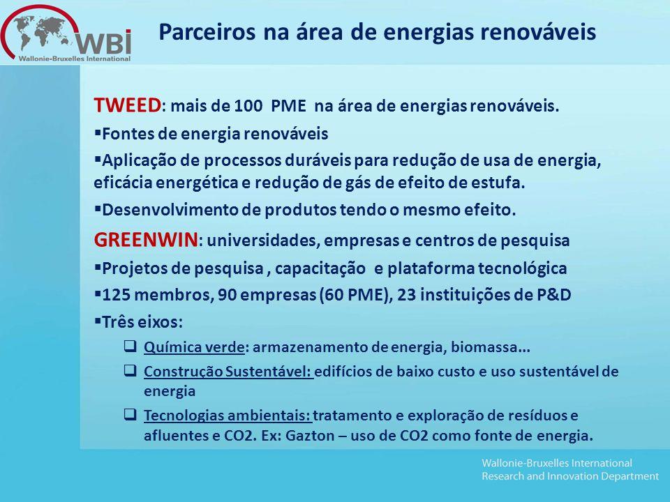TWEED : mais de 100 PME na área de energias renováveis.
