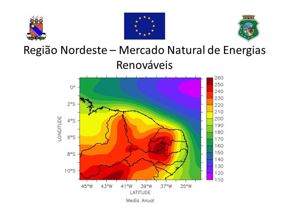 Estado do Ceará – Energia Eólica 19 parques – 588 MW 1,82 GW até 2016 (50 parques) Possibilidade de parques eólicos offshore