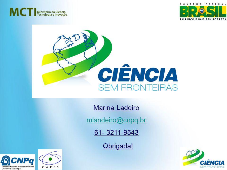 Marina Ladeiro mlandeiro@cnpq.br 61- 3211-9543 Obrigada!