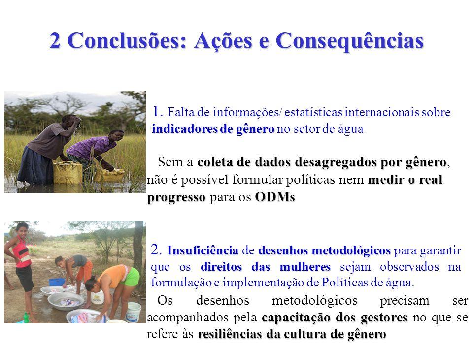 2 Conclusões: Ações e Consequências indicadores de gênero 1.