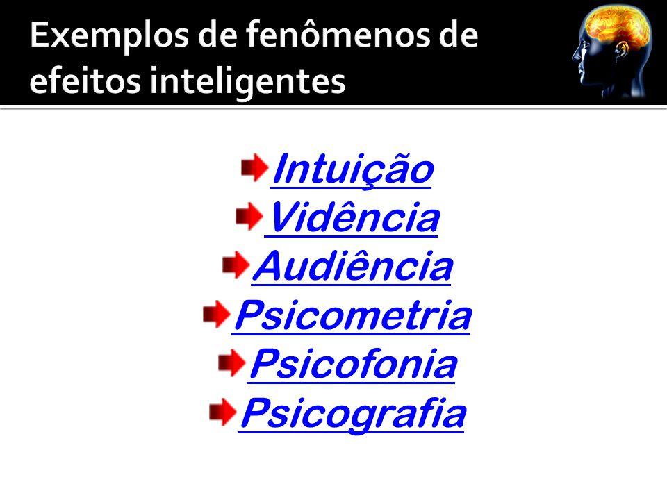 Intuição Vidência Audiência Psicometria Psicofonia Psicografia