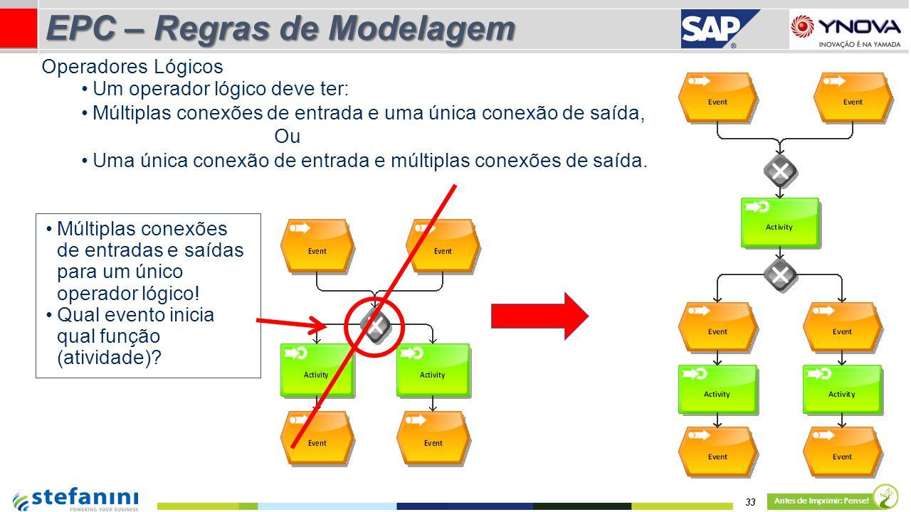 Um operador lógico deve ter: Múltiplas conexões de entrada e uma única conexão de saída, Ou Uma única conexão de entrada e múltiplas conexões de saída