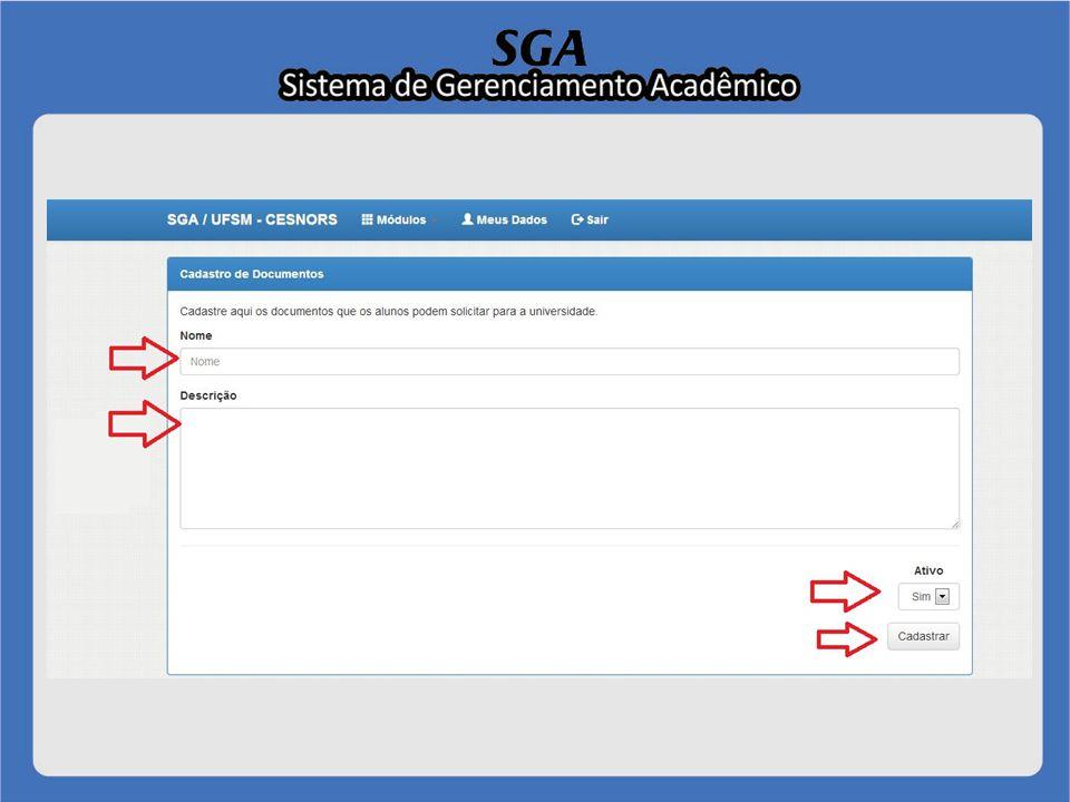 Módulo Aluno Tópico 2 - Consultar protocolos de documentos Para consultar uma requisição solicitada anteriormente, o aluno deverá clicar no menu Consultar Requisição.