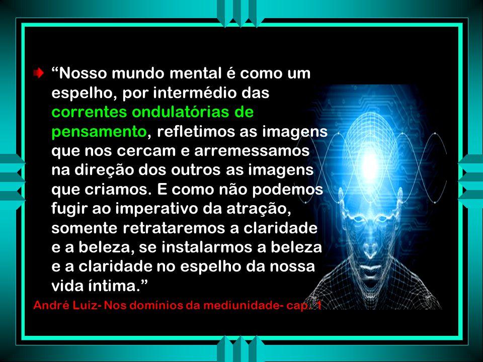 O PAPEL EXERCIDO PELA MENTE Através das correntes de pensamento o médium usa a mente para conhecer as intenções e as idéias do Espírito comunicante Intenções Idéias