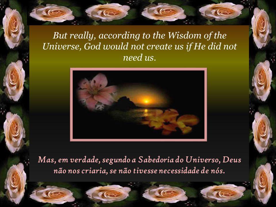 Realmente, não somos indispensáveis, porque a Providência Divina não pode falir quando falhamos transitoriamente. Actually, we are not indispensable,