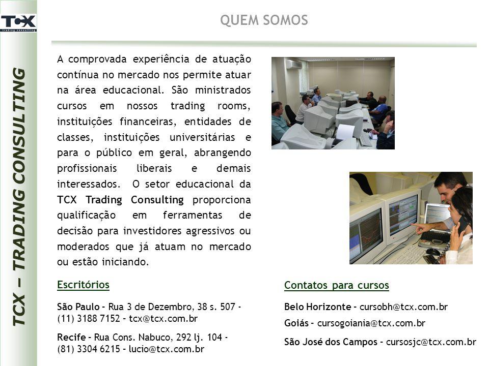 TCX – TRADING CONSULTING QUEM SOMOS A equipe TCX Trading Consulting é composta pelas seguintes pessoas: Luiz Antonio Gonçalves Pinto – Parddal Graduado em Matemática com pós-graduação em Economia.