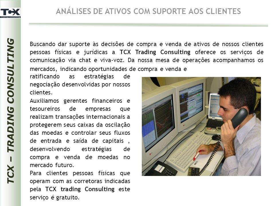 TCX – TRADING CONSULTING ANÁLISES DE ATIVOS COM SUPORTE AOS CLIENTES Buscando dar suporte às decisões de compra e venda de ativos de nossos clientes p