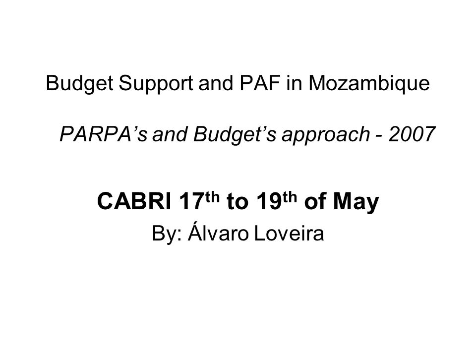 QAD's framing in Mozambique Monitoring frame of PARPA II; Monitoring and Assessment of PARPA, PES and OE; QAD's results – 2006; QAQ's Indicators Matrix; OE's performance indicators QAD's indicators; PAP's Assessment Performance