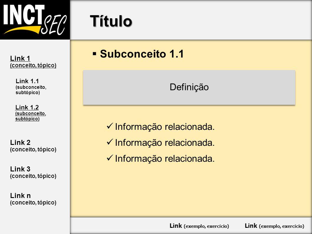 Título  Subconceito 1.1 Informação relacionada.