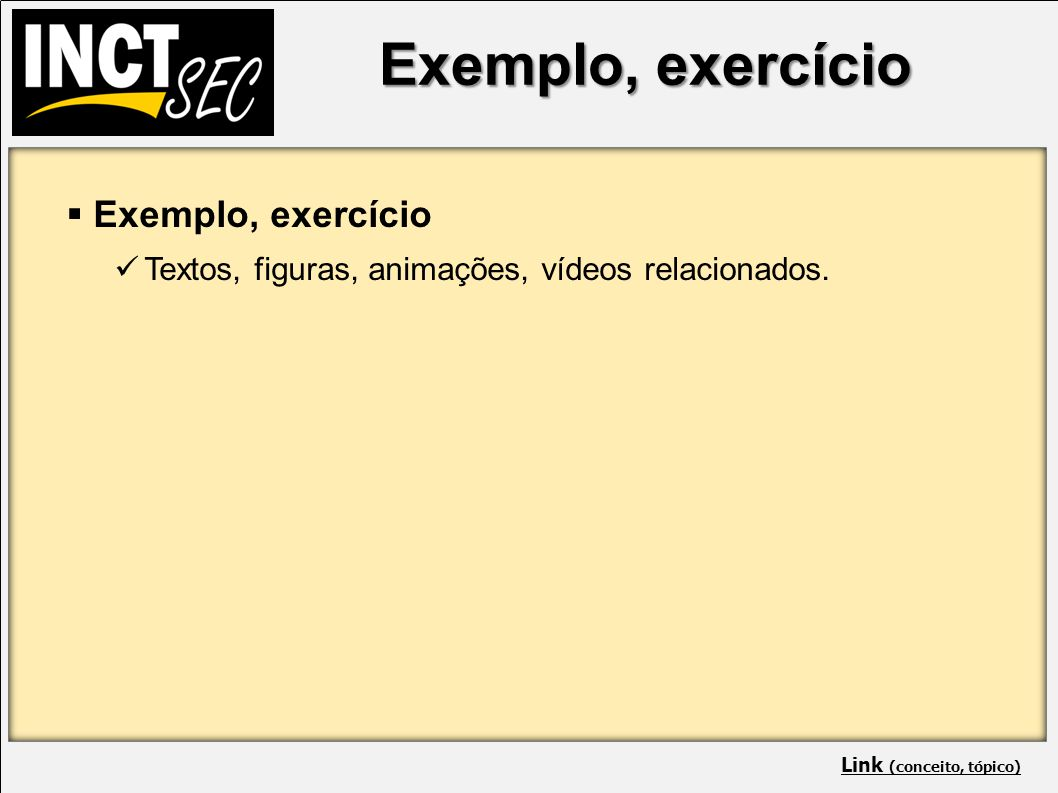Exemplo, exercício IP addresses and the port numbers of the components.
