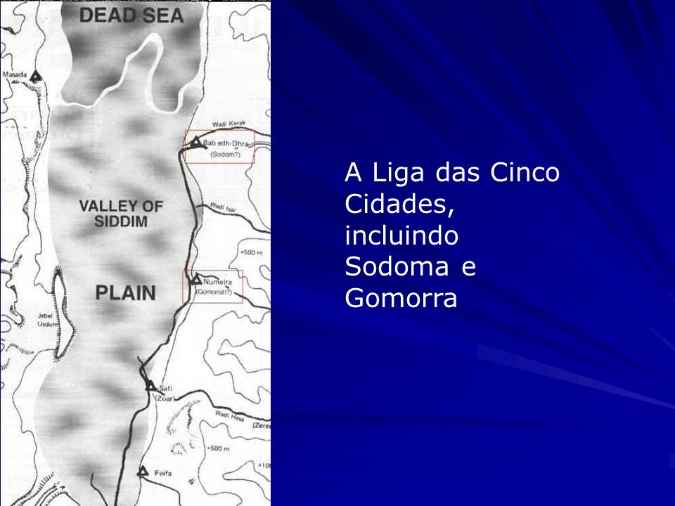 A Liga das Cinco Cidades, incluindo Sodoma e Gomorra