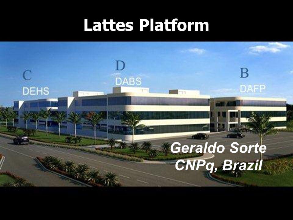 Ministério da Ciência e Tecnologia Lattes Platform Geraldo Sorte CNPq, Brazil