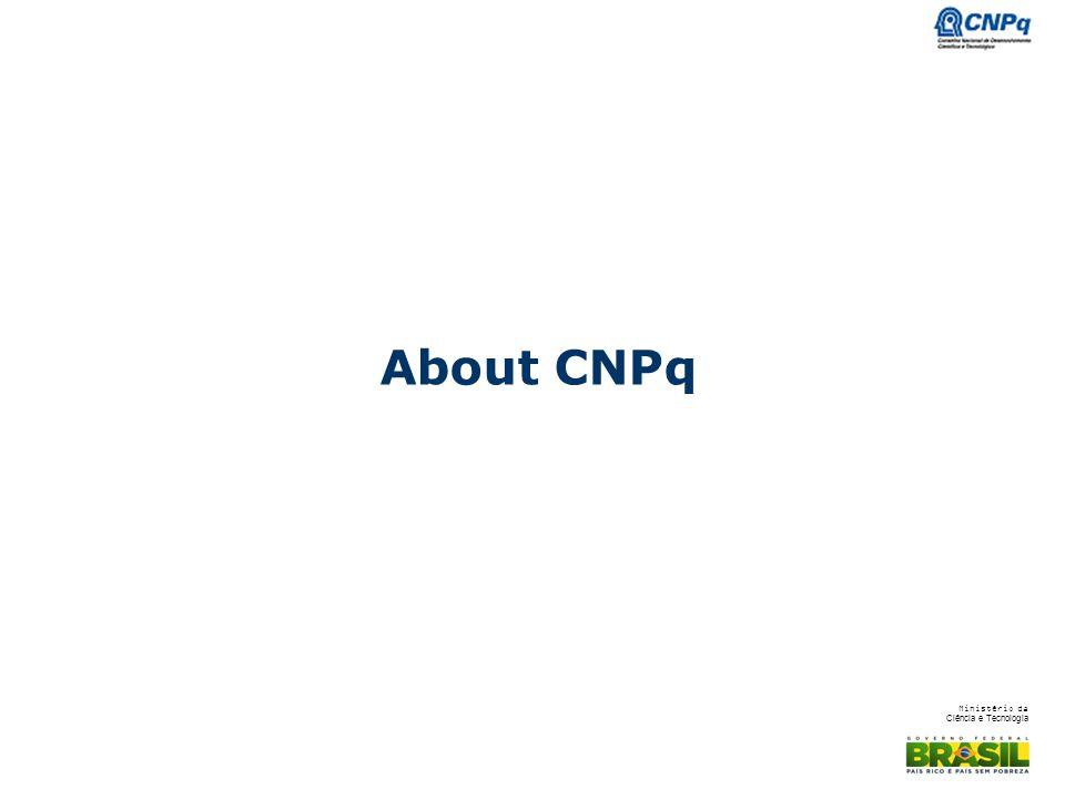 Ministério da Ciência e Tecnologia About CNPq