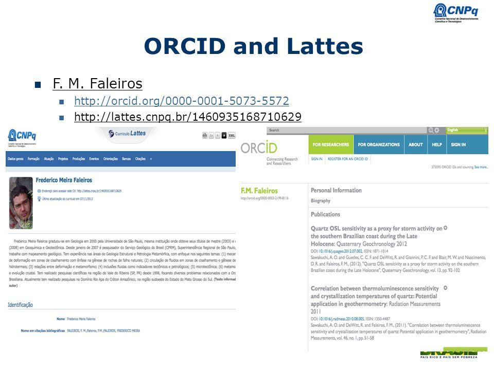 Ministério da Ciência e Tecnologia ORCID and Lattes F.